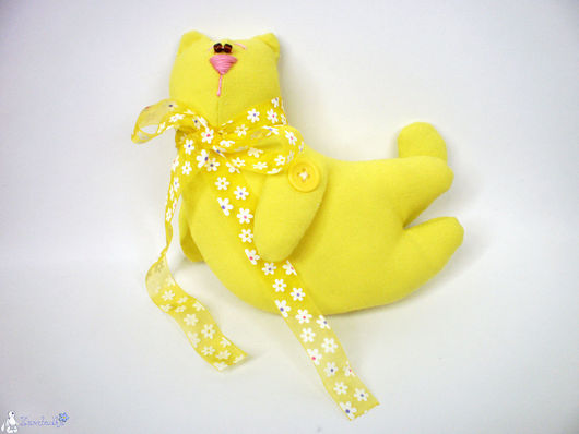 Куклы Тильды ручной работы. Ярмарка Мастеров - ручная работа. Купить Тильда Летающий Солнечный кот. Handmade. Желтый, кот