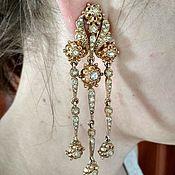 Vintage earrings handmade. Livemaster - original item Vintage clip-on earrings from Ciner