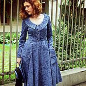 """Одежда ручной работы. Ярмарка Мастеров - ручная работа Платье в ретро стиле """"50 оттенков синего 2"""". Handmade."""