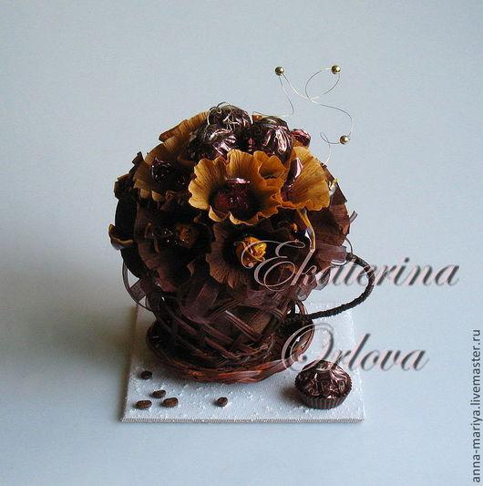 Букеты ручной работы. Ярмарка Мастеров - ручная работа. Купить Кофе...  (букет из конфет). Handmade. Оригинальный подарок, букет из конфет
