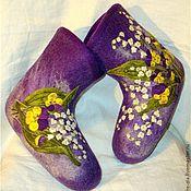 """Обувь ручной работы. Ярмарка Мастеров - ручная работа Валеночки """"Весна!"""". Handmade."""