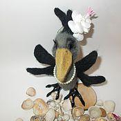 Мягкие игрушки ручной работы. Ярмарка Мастеров - ручная работа Ворона на отдыхе. Handmade.
