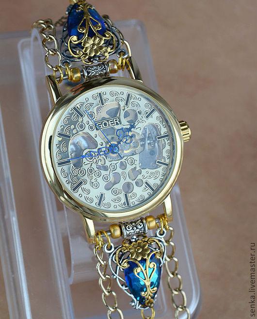 "Часы ручной работы. Ярмарка Мастеров - ручная работа. Купить Часы-скелетоны "" Парусник 2"" (часы наручные). Handmade."