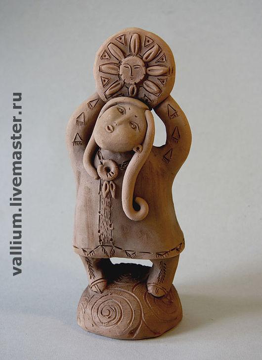 Коллекционные куклы ручной работы. Ярмарка Мастеров - ручная работа. Купить Скульптура Девочка и Солнце. Handmade. Керамика, авторская керамика