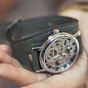 Украшения handmade. Livemaster - original item Watch wrist Dr.Grey, mechanical. Handmade.