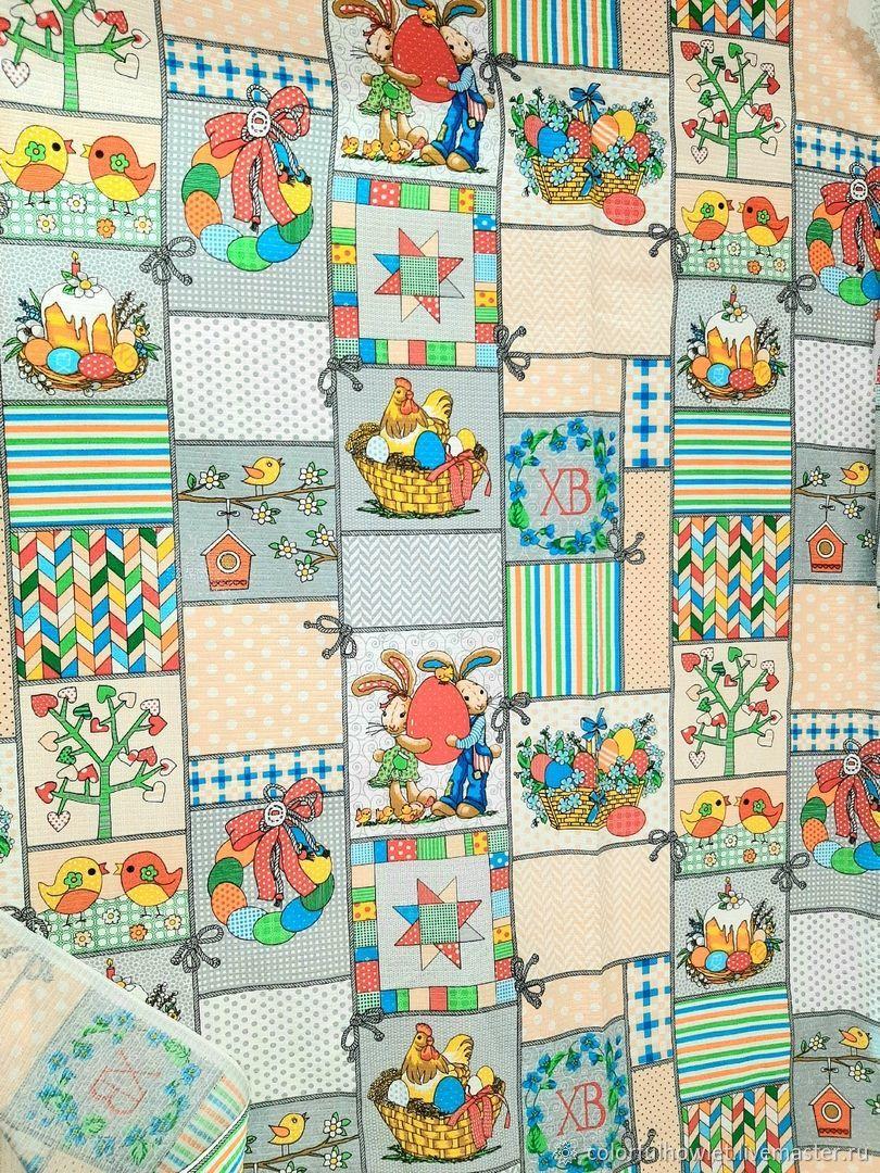 Пасхальная ткань вафельное полотно 100% хлопок для шитья, Ткани, Иваново,  Фото №1