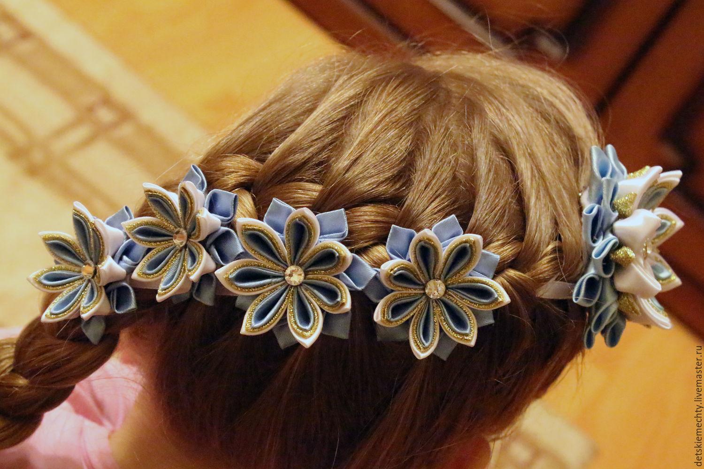 Лента в косу канзаши на 1 сентября. Цветы из. - Pinterest 58