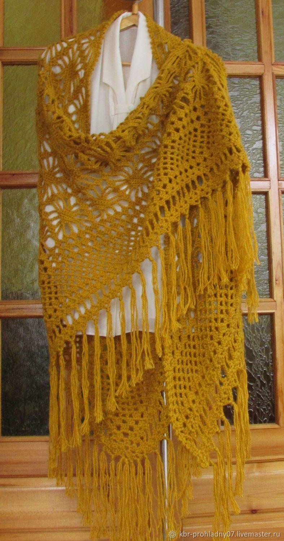 Видеоурок вязания крючком шали