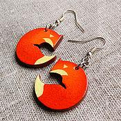 Украшения ручной работы. Ярмарка Мастеров - ручная работа Лисички-апельсинки:) серьги. Handmade.