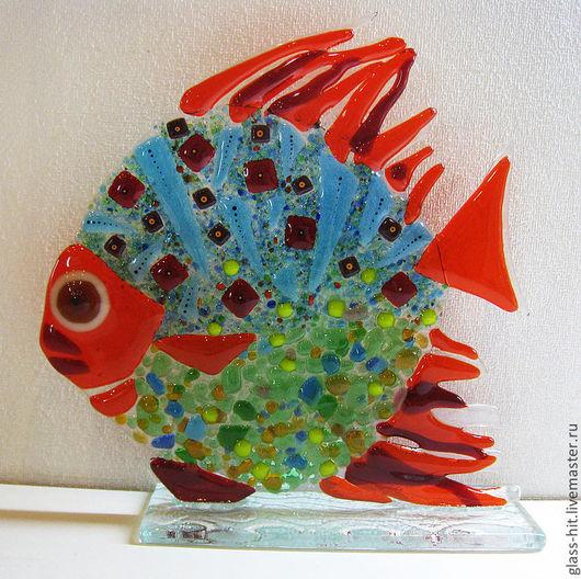 Рыбка на подставке 4. Стекло. Фьюзинг.