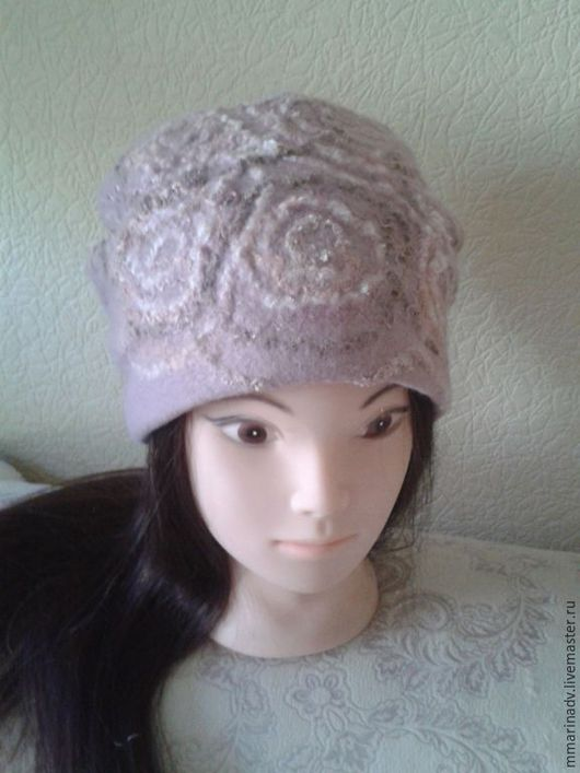 Валяная шапка `Круговерть`, шерсть 100%. Авторская работа Марины Маховской. Головные уборы ручной работы