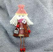 """Куклы и игрушки ручной работы. Ярмарка Мастеров - ручная работа Брошь """"Герда"""" 10,5 см. Handmade."""
