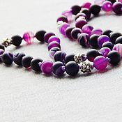Фен-шуй и эзотерика handmade. Livemaster - original item Rosary Violet made of agate 54 stones. Handmade.