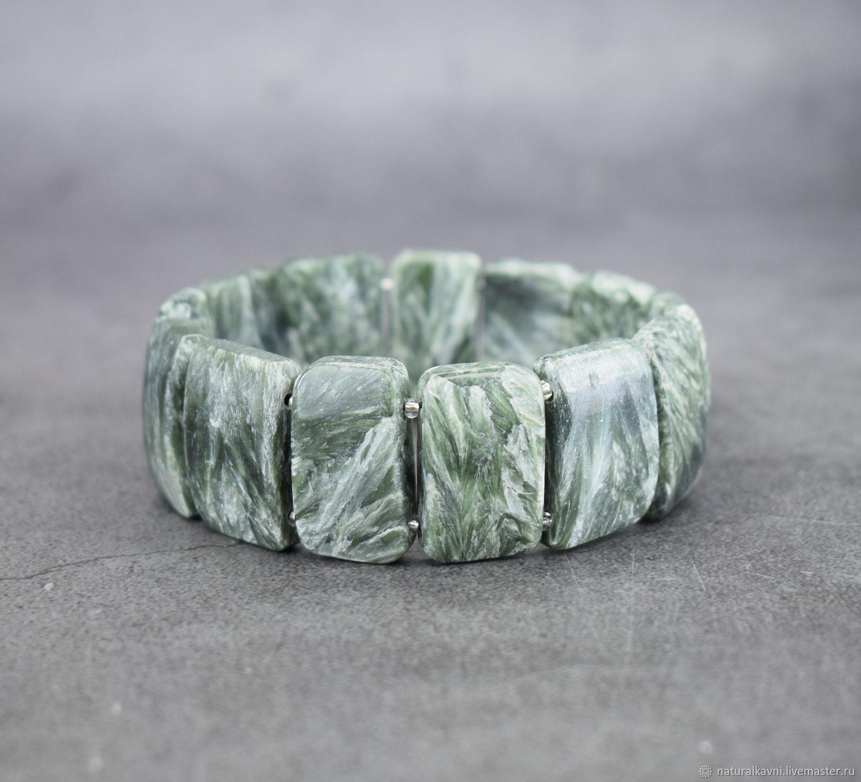 Seraphinit / a clinochlore bracelets made of stones, Bead bracelet, Moscow,  Фото №1