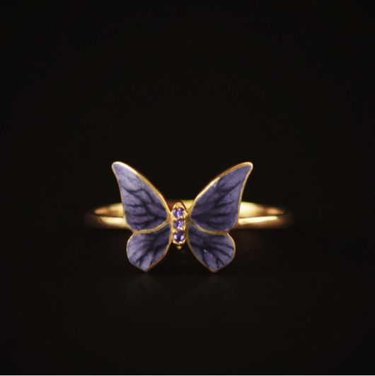 """Кольца ручной работы. Ярмарка Мастеров - ручная работа. Купить Кольцо золотое """"Бабочка"""". Handmade. Кольцо в подарок, подарок девушке"""