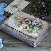 """Для дома и интерьера ручной работы. Ярмарка Мастеров - ручная работа """"Летняя акварель"""" деревянная шкатулка из ольхи (не фанера). Handmade."""