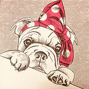 Материалы для творчества handmade. Livemaster - original item 543.  Napkin for decoupage Dog. Handmade.