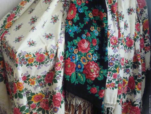 Винтажная одежда и аксессуары. Ярмарка Мастеров - ручная работа. Купить Шаль 150 х 150  Платок  Винтаж  ПП. Handmade.