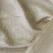 Ткани ручной работы. Ярмарка Мастеров - ручная работа Костюмно-плательный жаккард. Цвет бежевый.. Handmade.