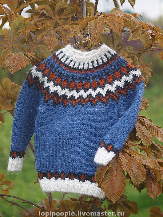 Кофты и свитера ручной работы. Ярмарка Мастеров - ручная работа. Купить Детский свитер. Handmade. Исландия, исландская шерсть, орнамент