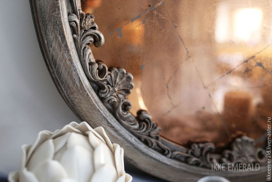 """Зеркала ручной работы. Ярмарка Мастеров - ручная работа. Купить состаренное зеркало """"Аврора"""". Handmade. Золотой, состаренное зеркало, стекло"""