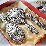 Серебряный комплект для дамского столика, серебро 925, Англия