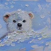 Картины и панно handmade. Livemaster - original item Oil painting White Bear. Handmade.