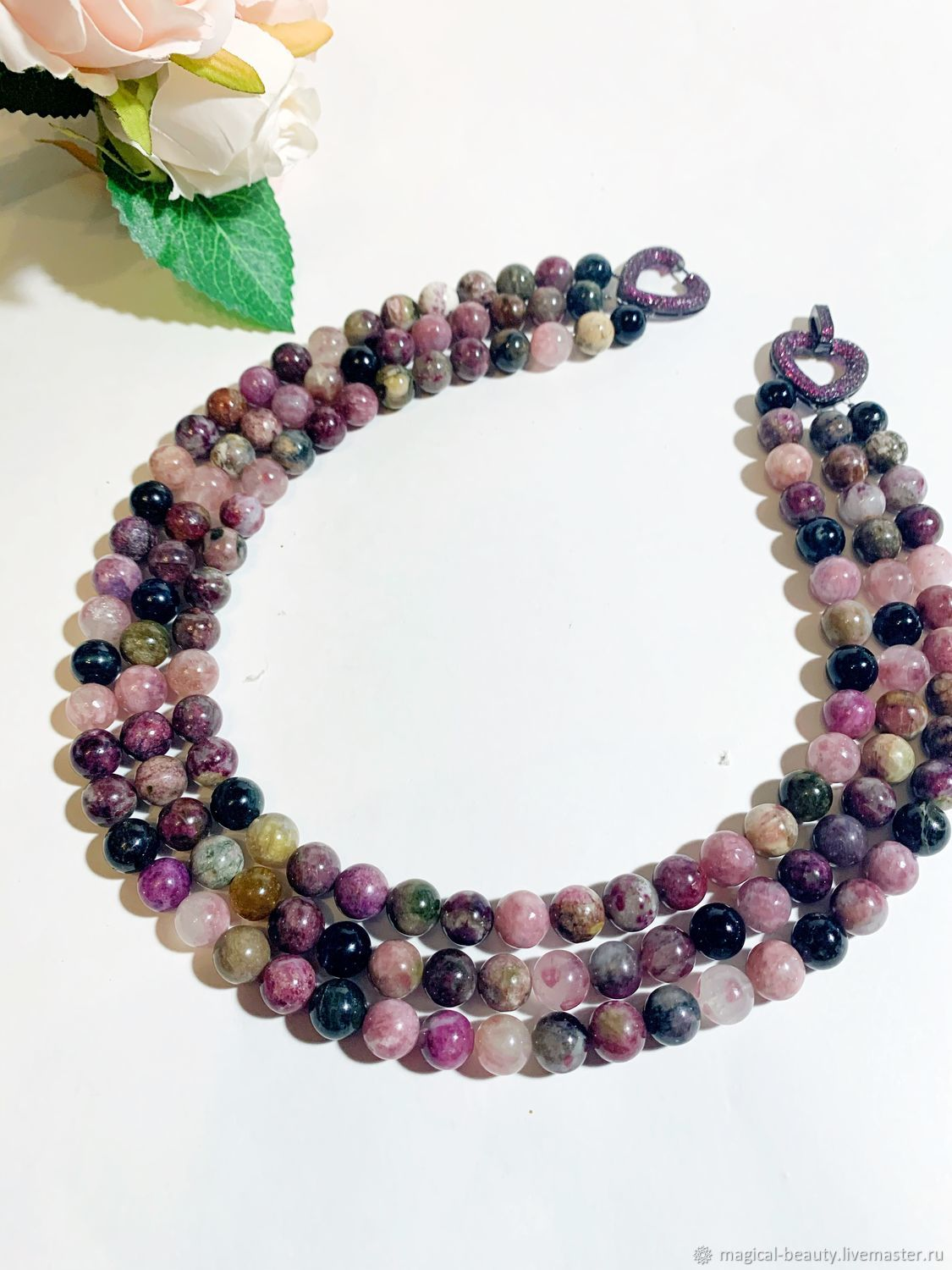 necklace of tourmaline, Necklace, Moscow,  Фото №1