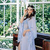 """Одежда ручной работы. Ярмарка Мастеров - ручная работа """"Муза в сиреневом"""" - будуарное платье со шлейфом. Handmade."""