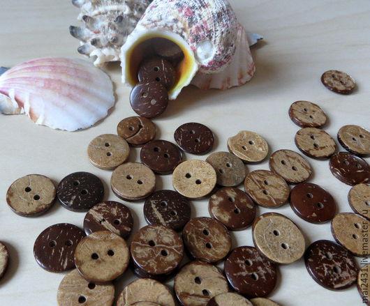 Шитье ручной работы. Ярмарка Мастеров - ручная работа. Купить Пуговицы кокосовые 15 мм. Handmade. Купить пуговицы