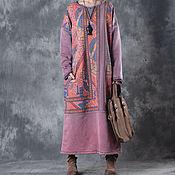 Одежда handmade. Livemaster - original item Pink dress big size. Handmade.
