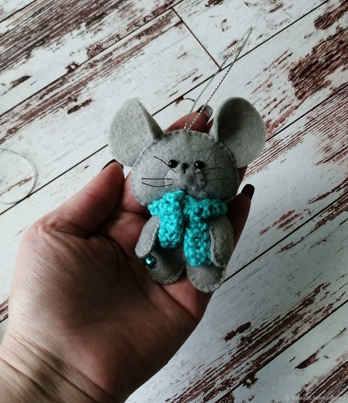 Мышка, крыска символ 2020года.мышка из фетра