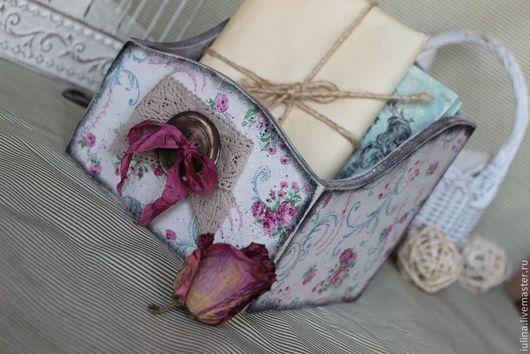 """Корзины, коробы ручной работы. Ярмарка Мастеров - ручная работа. Купить Короб для хранения """"Букетик кустовой розы"""". Handmade."""