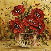 Картины и панно ручной работы. Ярмарка Мастеров - ручная работа Красные маки. Handmade.