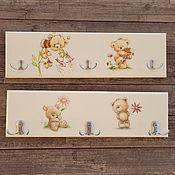 Для дома и интерьера handmade. Livemaster - original item Children`s wall hanger Little Bear. Handmade.