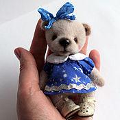 Куклы и игрушки ручной работы. Ярмарка Мастеров - ручная работа Мини мишка (11 см). Handmade.