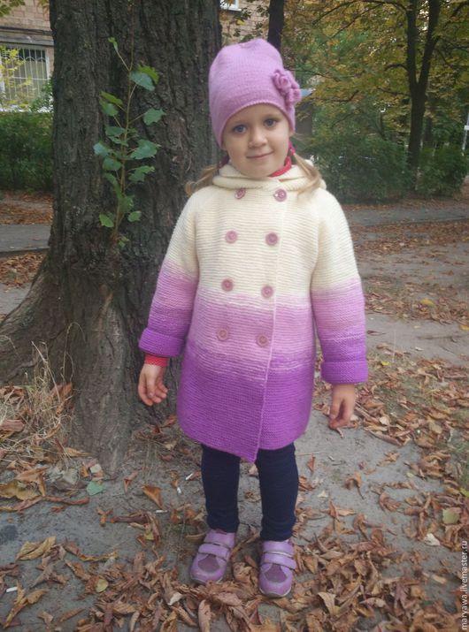 """Одежда для девочек, ручной работы. Ярмарка Мастеров - ручная работа. Купить Пальтишко """"Конфетти"""". Handmade. Комбинированный, Пальто ручной работы"""
