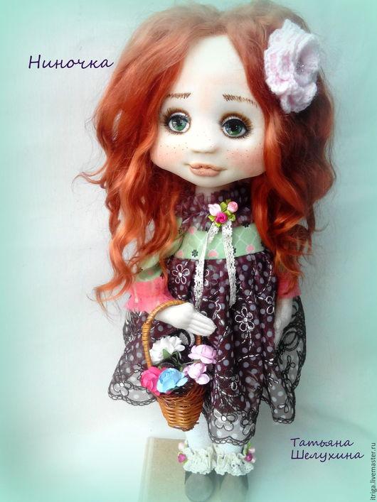 Коллекционные куклы ручной работы. Ярмарка Мастеров - ручная работа. Купить Ниночка. Handmade. Кукла, куколка, текстильная кукла, трикотаж