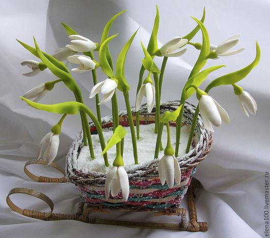 Цветы ручной работы. Ярмарка Мастеров - ручная работа. Купить подснежники - керамическая флористика. Handmade. Цветы, цветы для интерьера