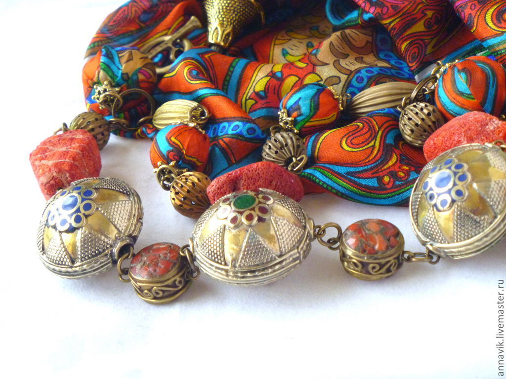 Beads 'Creole song', Necklace, Moscow,  Фото №1