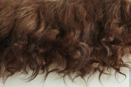Куклы и игрушки ручной работы. Ярмарка Мастеров - ручная работа. Купить 108,2. Волосы для кукол. Handmade. Коричневый, волосы