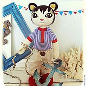 Куклы и игрушки ручной работы. Ярмарка Мастеров - ручная работа Кот Мик. Интерьерная игрушка. Handmade.