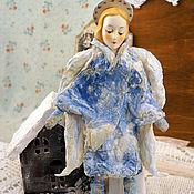 Куклы и игрушки handmade. Livemaster - original item Angel Cotton Batting Christmas Ornament - Spun Cotton Vintage Style -. Handmade.