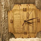 "Часы ручной работы. Ярмарка Мастеров - ручная работа Часы ""Старое меню"". Handmade."