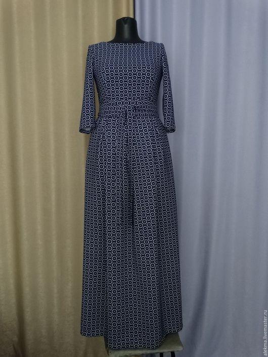 Платья ручной работы. Ярмарка Мастеров - ручная работа. Купить Платье длинное с рукавом  размер 44-46  Лана. Handmade.