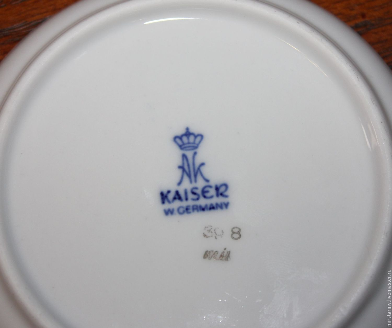 Decorative porcelain mini plates u0027Gameu0027 Kaiser Germany. & Decorative porcelain mini plates