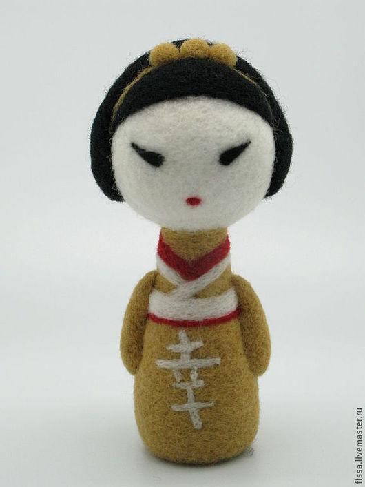 Коллекционные куклы ручной работы. Ярмарка Мастеров - ручная работа. Купить Счастье. Handmade. Желтый, подарок на день рождения, войлок