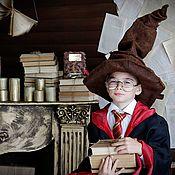Шляпы ручной работы. Ярмарка Мастеров - ручная работа Распределяющая шляпа Гарри Поттер Хэллоуин шляпа волшебника фотосессия. Handmade.