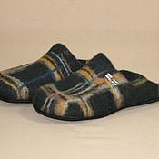 Обувь ручной работы handmade. Livemaster - original item Felted Slippers English style. Handmade.