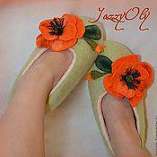 """Обувь ручной работы. Ярмарка Мастеров - ручная работа Валяные тапочки """"Для настроения"""". Handmade."""